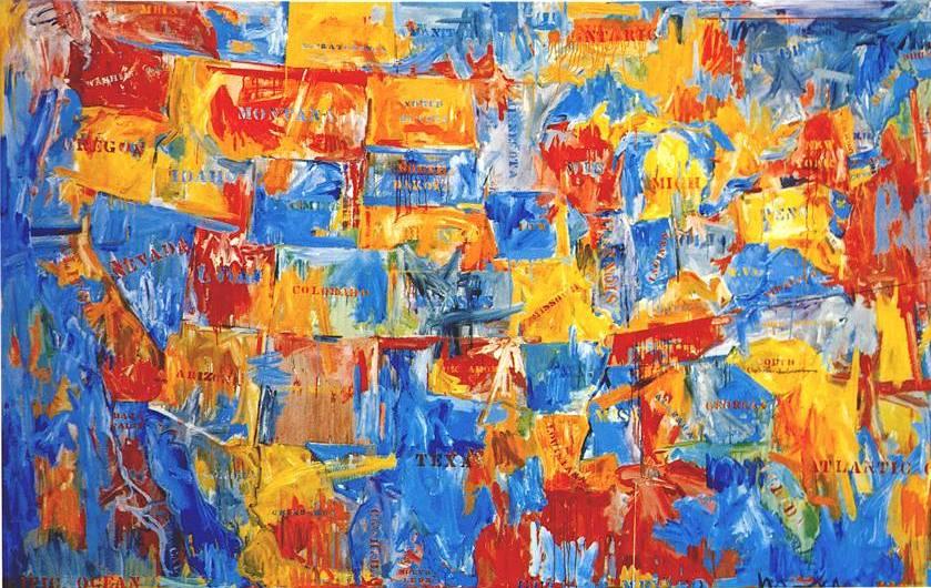 alegría y color: JASPER JOHNS